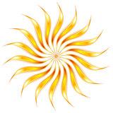 Abstract shiny glowing sunny shape