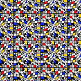 Design seamless colorful checked mosaic pattern