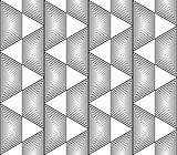 Design seamless monochrome trapezium pattern