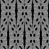 Design seamless monochrome wave striped pattern