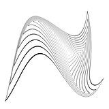 Design triangle movement illusion background