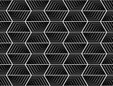 Design seamless monochrome hexagon pattern