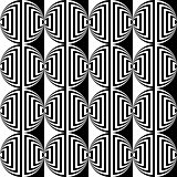 Design seamless monochrome ellipse geometric pattern