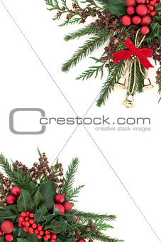 Christmas Bell and Bauble Border