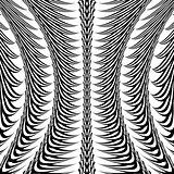 Design warped monochrome vertical decorative pattern