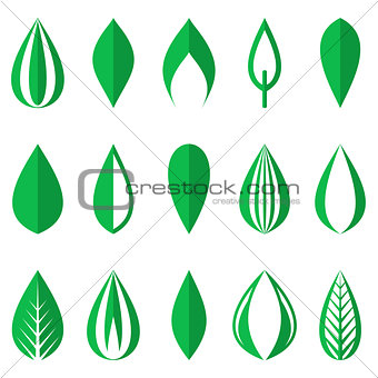 Green simple leaves