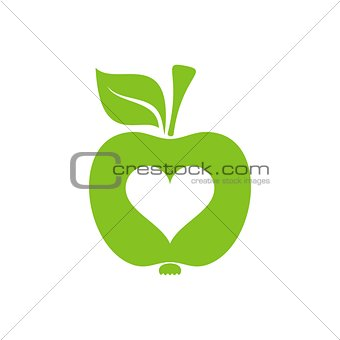 Apple symbol of healthy heart