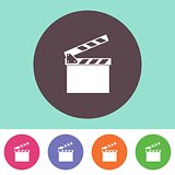 Vector clapperboard icon