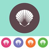 Vector scallop icon
