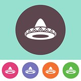 Vector sombrero icon