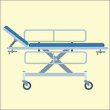 Medical stretcher bed on wheels