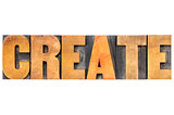 create word typography in wood type