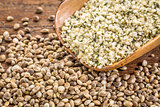 hemp seeds and hearts