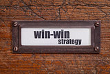win-win strategy - file cabinet label