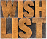 wish list word abstract typography