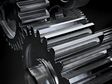 Gears on dark background