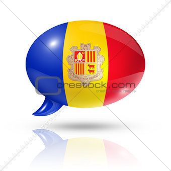 Andorran flag speech bubble