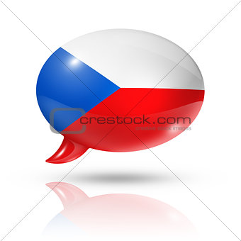 Czech Republic flag speech bubble