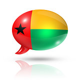 Guinea Bissau flag speech bubble