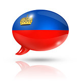 Liechtenstein flag speech bubble