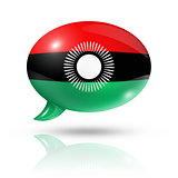 Malawi flag speech bubble