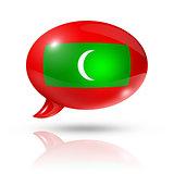 Maldives flag speech bubble