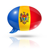 Moldovan flag speech bubble