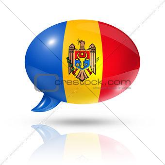 Moldovan flag speech bubble