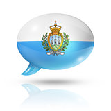 San Marino flag speech bubble