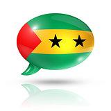 Sao Tome and Principe flag speech bubble