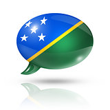 Solomon Islands flag speech bubble