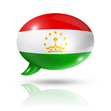 Tajikistan flag speech bubble