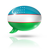 Uzbekistan flag speech bubble