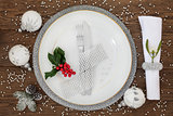 Sparkling Christmas Place Setting