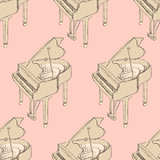 Sketch piano musical insrument