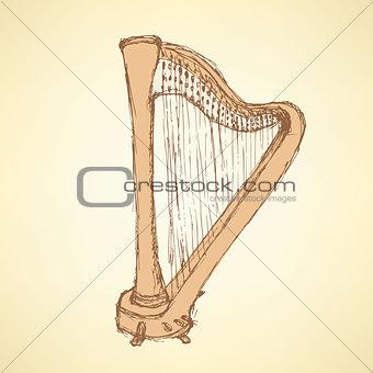 Sketch harp musical instrument