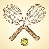 Sketch tennis equipment