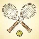 Sketch tennis equipment