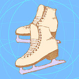 Sketch skating shoes in vintage style