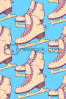 Sketch skating shoes in vintage style