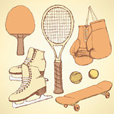 Sketch sport equipment