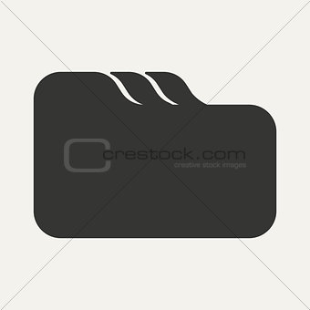 Flat in black and white mobile application folder