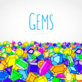 Hand drawn doodle gems vector illustration