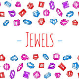 Cartoon jewels vector background