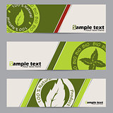 Bio label banner set