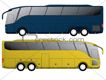 Tourist bus design with double axle