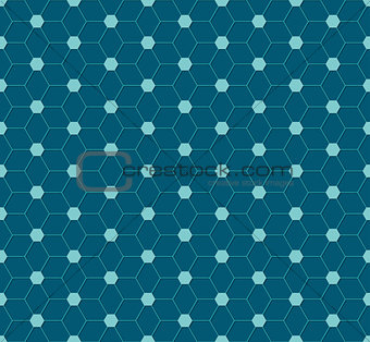 Abstract hexagon pattern design