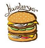 Vector Big Hamburger