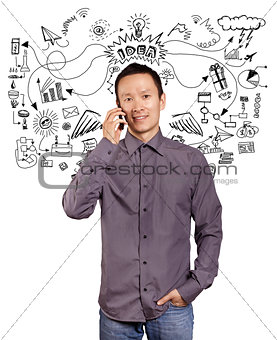 Asian Man With Folded Hands