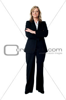 Portrait of glamorous corporate lady